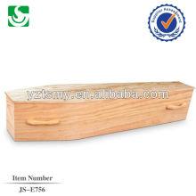caja de ataúd de madera sólida de MDF