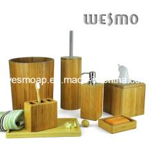 Accessoire de bain en bambou carbonisé (WBB0312A)