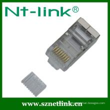 Conector / conector modular 8p8c STP con inserto