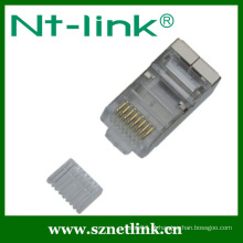 8p8c plug modular / conector STP w / inserir