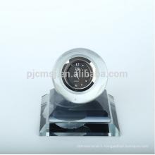 Belle horloge à boule en cristal pour voiture et décoration de table