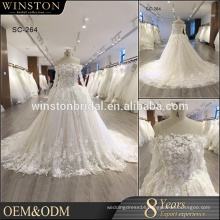 Fashion professional best muslim bridal wedding dress