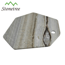 Wholesale New Irregular Pastry Serving Marble Stone Cheese Board Set