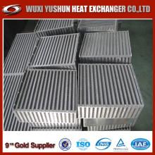 Noyau d'intercooler d'air d'aluminium personnalisé