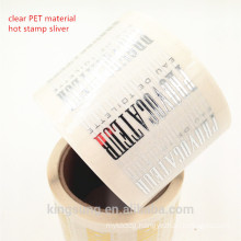 high quality custom printing cosmetic label with lamination, por uv, laser, gold stamp