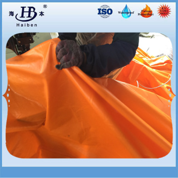 Waterproof and flame retardant pvc coated tarpaulin fabric