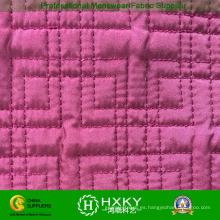 Tela acolchada Ripstop color rosa para prendas acolchadas