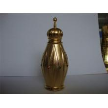 Botella de perfume de metal 15ml con tapón de rosca de metal (MPB-01)