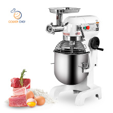 Golden Chef bakery equipment planetary food mixer with meat grinder batidora food mixer 10l with meat mincer