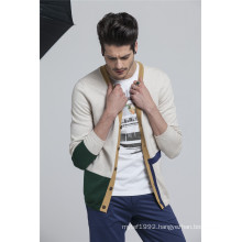 100%Cottonl V-Neck Assorted Colors Knit Men Cardigan with Button