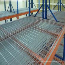 Galvanizada rejilla de acero para el almacén de estanterías
