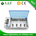 NI-MH Rechargeable AA AAA C D 9V multi battery charger