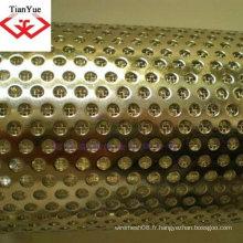 Feuille métallique perforée en acier inoxydable