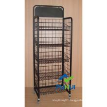 Mobile Floor Standing Metal Bulk Display Fixture (PHY315)