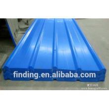 Chine en acier de couleur feuille ondulée toit ou mur panneau de toit