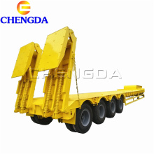 4 axle 70tons lowbed semi trailer