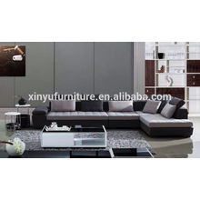 Modern grey fabric design soft furniture living room sofa set KW1512