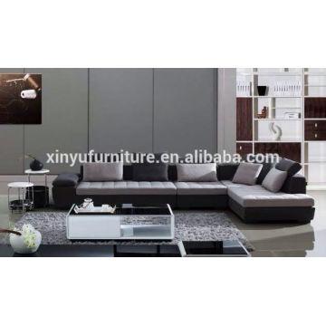 Modern grey fabric design soft furniture living room sofa set KW1512