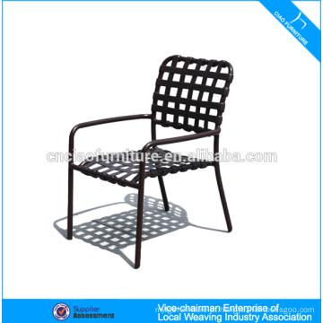Novo design de moda jardim mobiliário PE rattan cadeira de jantar