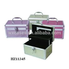 fashional & hohe Qualität Aluminium Kosmetikkoffer mit einem Tablett im Inneren von China-Fabrik