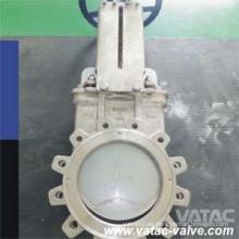 Válvula de puerta completa del cuchillo del estirón del acero de molde Cl125 / Cl150
