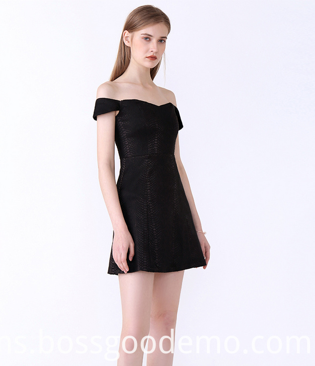 Off-shoulder Short Sleeve Sexi ElegantElegant Strapless Dresses