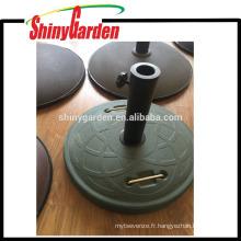 Base ronde de parapluie de parapluie, base concrète de poids avec la poignée