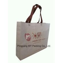 Promoção personalizada de supermercado laminado não tecido Shopper Bag