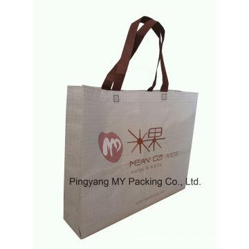 Custom Supermarket Promotion Laminated Non Woven Shopper Bag