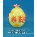 Huevo de Pascua Tarro de almacenamiento de cerámica con decoración de mariposa