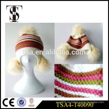 Bajo precio elegante damas invierno sombrero slouch gorrita tejida invierno sombrero fábrica venta directa