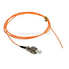 FC conector simplex multimodo fibra ótica pigtail com único conector cabo de fibra pigtail