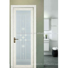 Puerta oscilante de aluminio con vidrio doble fuerte, puerta del diseño moderno para el cuarto de baño