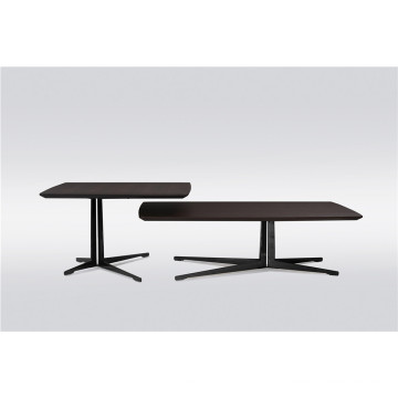 Smoky veneer coffee table