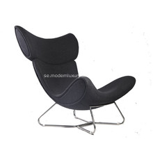 Imola Wingback Läder Lounge Chair