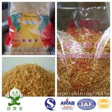 Hongsheng granos de ajo fritos en pequeños envases