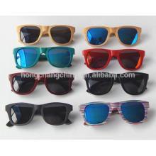 gafas de sol con marco de madera