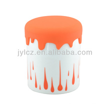 750cc small canister with silicone lid