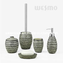 De madera mirar accesorios de baño de poliresina (wbp0819a)