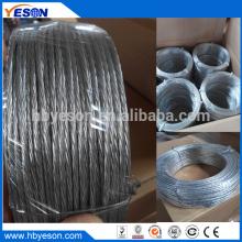 Anping 7 hilos de alambre de hierro galvanizado multistrand de atar