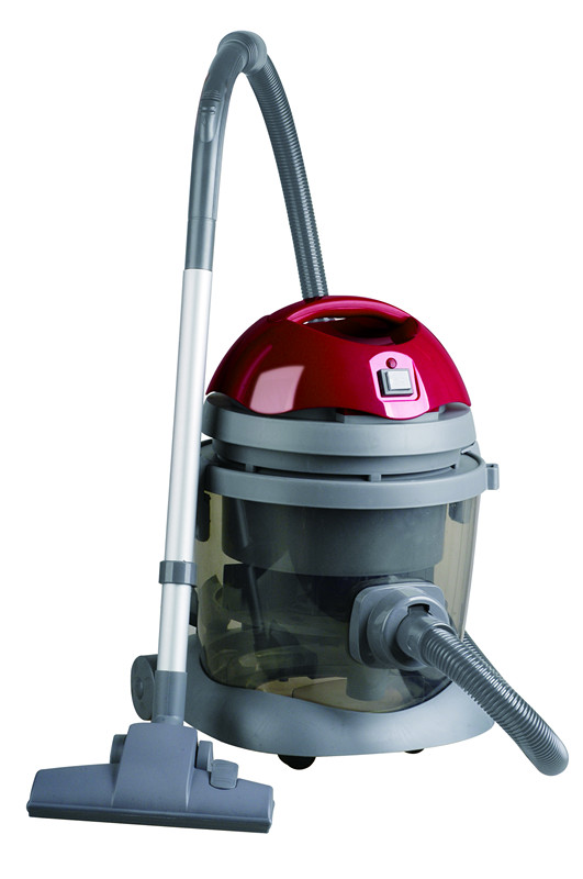 drum penyaring air merah vacuum cleaner