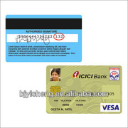 clear plastic magnetic stripe card