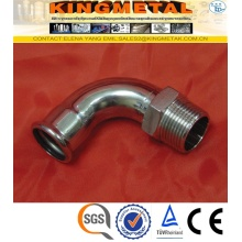 F304/316 Stainless Steel Press Fittings Male Threaded Pess Ebow