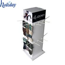 Ecofriendly 4 lados de cartón corrugado Soportes de exhibición con ganchos