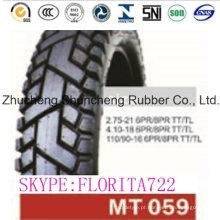 Qualidade barata moto 4.10-18 pneu 90/90-18 e tubo