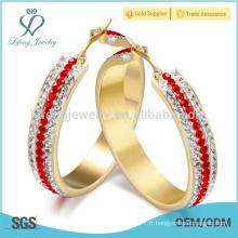 Nouvelle boucle d'oreille en cristal, conception de bijoux en boucle d'oreille
