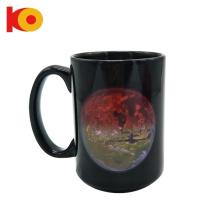 15oz Customized household ceramic heat sensitive changing color sublimation ceramic mug