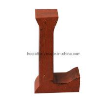 Cartas de madera para la decoración del hogar