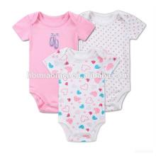 2017 nueva moda niña bebé onesie mono 100% algodón verano bebé flores mameluco