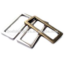 Moda de alta qualidade em liga de metal anel retangular plana